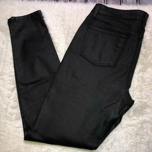 Eileen Fisher black coated jeans